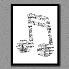 Music Note Print, Music Note, Art, Music Teacher, Print, Gift, Classical, Wall Decor, Wall Art, Nursery, Children, Kids, Orchestra, Band