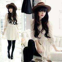 H&M Dress, Hat, Cheap Monday Boots - Alice + Olivia. - Rachel-Marie Iwanyszyn