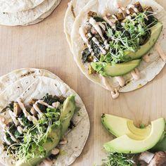Vegan Mushroom and Cress Tacos