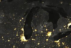 Lights of the Night, Chicago by MapBox, via Flickr