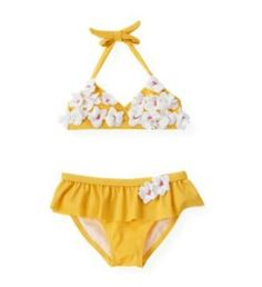 Janie and Jack Blossom Bikini Toddler Swimsuits, Baby Swimwear, Baby Couture, Little Fashionista, Janie And Jack, Stylish Kids, My Little Girl, Kid Styles, Kids Outfits