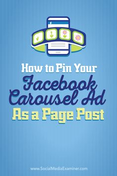 Do you want more organic traffic from Facebook?  Have you considered pinning your ads as Facebook page posts?  In this article you'll discover how to drive organic traffic and conversions by pinning a Facebook carousel ad to your page as a post. Via @smexaminer.