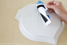 DIY sign - I totally forgot about this way of transferring an outline onto an object like a stencil! | TLC
