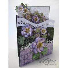 Cascading Lavender Blooms Foldout Card