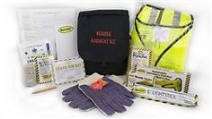 Emergency vehicle accident kit