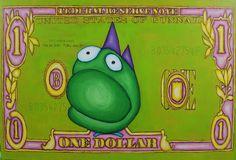 If you want money, paint it! : Dollar Gunnar, 2015 | davidgouny