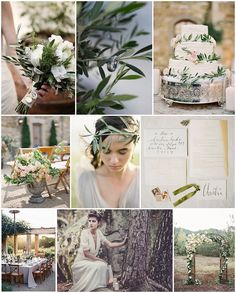 Love in the olive grove wedding ideas on French Wedding Style