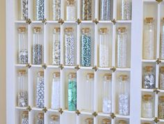 19 Ways To Organize Craft Materials like Beads, Ribbon, Paint, Fabric, Buttons, and Wrapping Paper