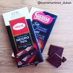 Chocolate sin azúcar añadido: desde Consolidación, un par de cuadraditos por persona y día (sin contar tolerados) #Dukan