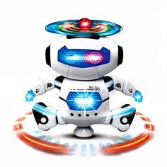 NUEVA Moda de Baile Caminar Electrónica Inteligente Espacio Astronauta Robot Niños Luz de la Música Juega El Envío Libre