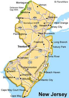 New Jersey Map Jersey Girl Travel Posters And Travel Specials - New jersery map