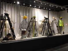 When the store is under construction so is the window display!