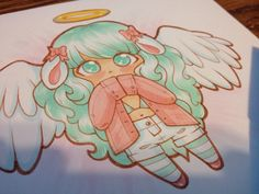 A chibi of my avatar from Gaiaonline. She's all pastel and sweets! :3