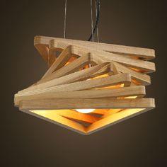 Spiral Wood Pendant Lamp //Price: $179.99 & FREE Shipping //     #diy