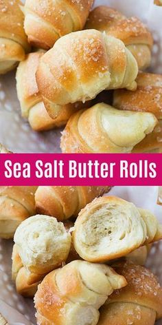 Sea Salt Butter Rolls - the best and softest butter rolls recipe ever! Topped with sea salt, these homemade butter rolls are easy to make and fail-proof. Get baking with the KitchenAid Deluxe Quart Stand Mixer, only at Butter Roll Recipe, Best Rolls Recipe, Scones, Stand Mixer Recipes, Sweet Potato Soup, Homemade Butter, Homemade Vanilla, Salted Butter, Dinner Rolls