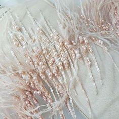 Love the detailing on this luxury beaded lace trim.  This would feature well on a wedding dress for a summer wedding adding just a hint of subtle colour and texture.  #lesleycutlerbridal #2019bride #bridetobe2019 #luxurywedding #weddingtrends #littlebookforbrides  #weddingdressgoals #weddinginspiration #weddingblog #dailyweddinginspiration #bridalfashion #britishmade #handcrafted #britishdesign #bridestyle #luxewedding #dreamdress #weddingdressdetails #bridalbliss #instawedding…