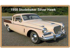 1958 Studebaker Silver Hawk Auto Refrigerator / Toolbox Magnet