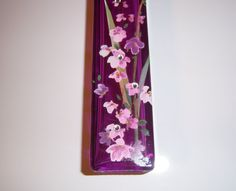 Purple bud vase  pink and purple wisteria   by MoanasUniqueDesigns, $10.00