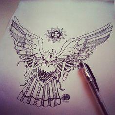 julia_grad #eagle #star #art #print #sketch #draw #pen #juliagrad