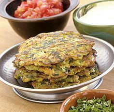 Savory spinach pancakes for dinner! Add hemp & chia seed for extra protein...melted cheese for extra yummm!