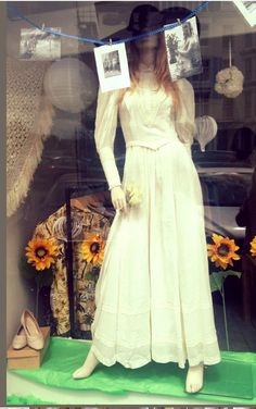 1970s rare Laura Ashley wedding dress by suzibythesea on Etsy