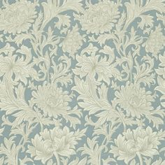The Original Morris & Co - Arts and crafts, fabrics and wallpaper designs by William Morris & Company | Products | British/UK Fabrics and Wallpapers | Chrysanthemum Toile (DMOWCH101) | Morris V Wallpapers