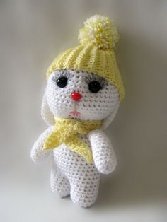 Knitted hare. Amigurumi hare. White hare от ExclusiveShopGoods