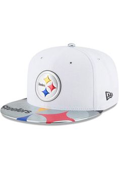 Pitt Steelers New Era Mens White 2017 Official On-Stage 59FIFTY Fitted Hat  Pittsburgh Steelers 184cb728cc7e