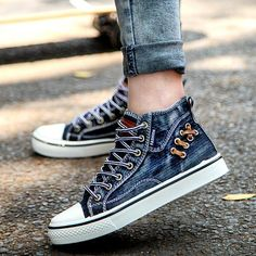 Fashion Spring Autumn Men Denim Shoes Sale sneakers 9251c7ddb4