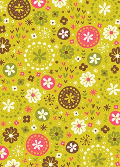 Lime Drop Stretched Canvas by Anna Deegan Scrapbook Background, Scrapbook Paper, Pattern Paper, Fabric Patterns, Cute Wallpapers, Wallpaper Backgrounds, Decoupage Vintage, Retro Pattern, Pretty Patterns