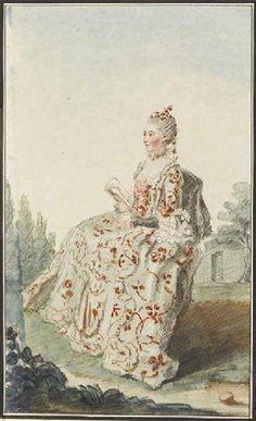 La vicomtesse de Vaudreuil, 1760 by Louis Caroggis Carmontelle (17171-1806)