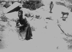 black white abandoned children | South African War Refugees in the Transvaal, circa 1900