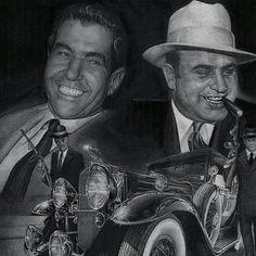Lucky Luciano and Al Capone.