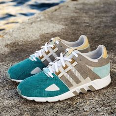 "ADIDAS CONSORTIUM X SNEAKERS76 10TH ANNIVERSARY EQT GUIDANCE 93 ""THE BRIDGE OF TWO SEAS"" @adidasoriginals @sneakers76 #consortium #eqt #guidance93 #thebridgeoftwoseas tale of two seas and one city - - An aquatic EQT drenched in history - - Footwear from the heel of southern Italy - Taranto September 2016 The City of Taranto was built by the Spartans on the coast of Southern Italy. Together adidas Consortium and Taranto-natives Sneakers76 present a stunning EQT Running Guidance 93 in a col..."