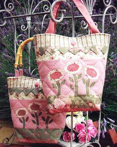 Spring Delight   Cute flower applique bag PATTERN  The by kate54, $11.95