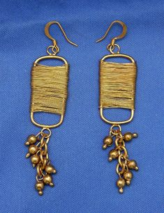 Brass Wire Wrapped Dangle Earrings on Mercari Boho Gypsy, Vintage Earrings, Wire Wrapping, Dangle Earrings, Ethnic, Dangles, Artisan, Brass, Personalized Items