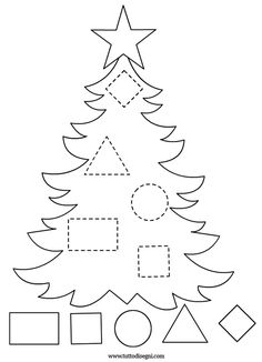 Get the kids tracing lines to match the decoration to the tree! Once that's all done then get them to colour it in! NOTE: I've also tried this as a sticker tracing worksheet which the kids LOVE! Preschool Christmas Crafts, Christmas Activities For Kids, Winter Crafts For Kids, Preschool Activities, Holiday Crafts, Felt Christmas, Christmas Colors, Christmas Themes, Toddler Crafts