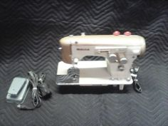 Vintage White Sewing Machine Gold Color | eBay