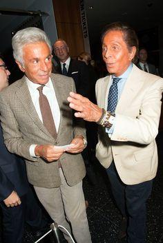 Giancarlo Giammetti and Valentino at the Diana Vreeland documentary screening in New York.