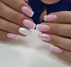 Pink and white nails #pinkandwhitenails