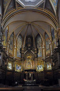 Monestir de Montserrat (Bages)  Altar   Cataluña España