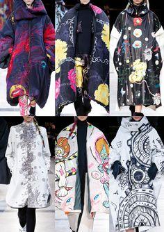 Yohji Yamamoto Paris Fashion Week – Autumn/Winter 2014/2015 –bold prints and grafitti