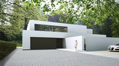 Arplus architectuur & interieurprojecten Cubic Architecture, Modern Architecture House, Interior Architecture, Arch House, House Front, Home Garden Design, House Design, Concrete Houses, Austin Homes