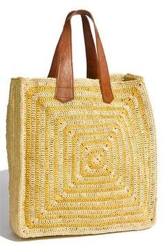 Big square crochet bag