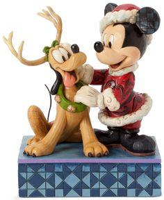 Jim Shore Disney Mickey with Reindeer Pluto Collectible Figurine Disney Christmas Ornaments, Mickey Christmas, Christmas Figurines, Magical Christmas, Christmas Art, Father Christmas, Hades Disney, Disney Fun, Disney Mickey