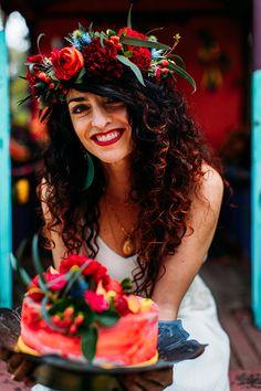Mariage coloré, influence gypsy Réalisation La Fabrique d'Etoiles Filantes  Crédit Photo Bodart Studio Photograpy Wedding Cake French Made
