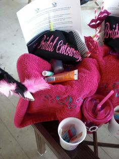 Survival Kits for the Bachelorette Party!! :  wedding bachelorette bridesmaids diy survival kits CIMG2394
