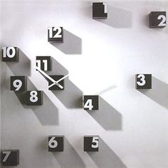 Stick On Wall Clock DIY Large Modern Design Decal Stickers GYM Cafe Office. The clock finishing size is depends on your preference to decorate your wall, DIY distance from different digits, and DIY shape of the digits.