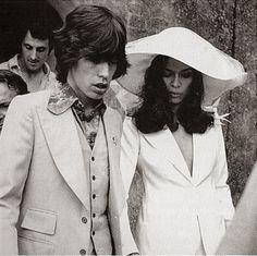 Bianca and Mick Jagger, wedding #the2bandits #banditboyfriend