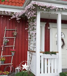 Little Lotta ~ Our Sweden House: DIY - Window Awnings - Small Home Exterior Rustic Houses Exterior, Small House Exteriors, Sweden House, Beautiful Small Homes, House On The Rock, Scandinavian Home, Cottage Homes, Entrance, Sweet Home